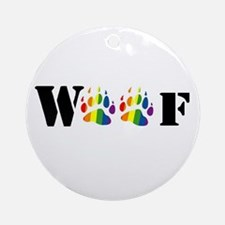woof rainbow paw Ornament (Round)