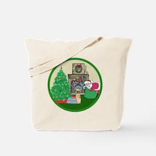 Santa & A Yorkie Tote Bag