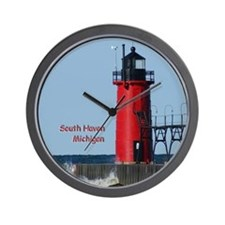 South Haven Lighthouse Wall Clock