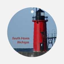South Haven Lighthouse Ornament (Round)