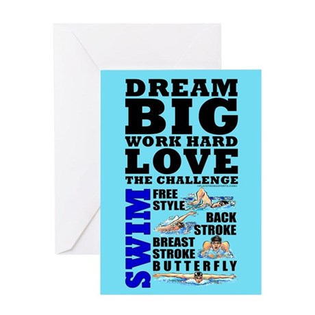 Dream Big Birthday Card Swim (M) #1419
