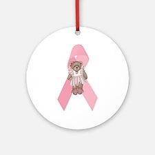 Breast Cancer Ribbon & Ballerina Bear Keepsake (Ro