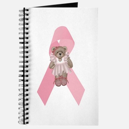Breast Cancer Ribbon & Ballerina Bear Journal