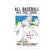 All Baseball Rectangle Decal