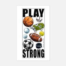 All Sport Play Strong Rectangle Decal