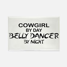 Cowgirl Belly Dancer by Night Rectangle Magnet