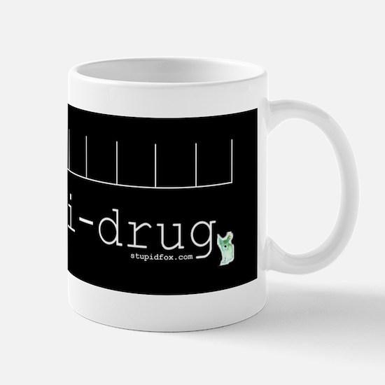 Black Anti-drug Blank Mug