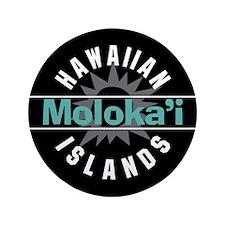 """Molokai Hawaii 3.5"""" Button"""