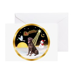 Night Flight/Lab (choc) #10 Greeting Card