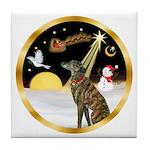 Night Flight/Greyhound (brin) Tile Coaster