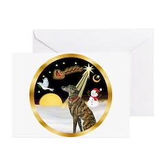 Night Flight/Greyhound (brin) Greeting Cards (Pk o