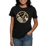 Night Flight/Greyhound (brin) Women's Dark T-Shirt