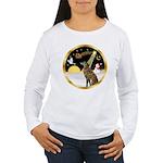 Night Flight/Greyhound (brin) Women's Long Sleeve