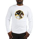 Night Flight/Greyhound (brin) Long Sleeve T-Shirt