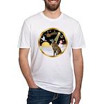 Night Flight/Greyhound (brin) Fitted T-Shirt