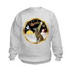 Night Flight/Greyhound (brin) Kids Sweatshirt
