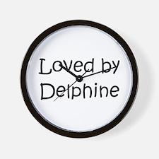 Cute Delphine Wall Clock