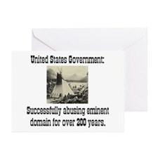 EMINENT DOMAIN ABUSE Greeting Cards (Pk of 10)