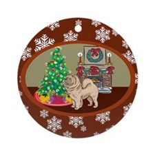 Classic Chow Chow Ornament (Round)