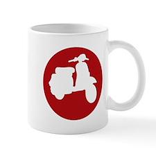 Retro Red Scooter Dot Mug