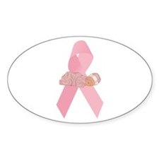 Breast Cancer Ribbon & Baby Oval Decal