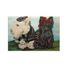 Scottish Highland Terriers Rectangle Magnet