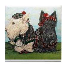 Scottish Highland Terriers Tile Coaster