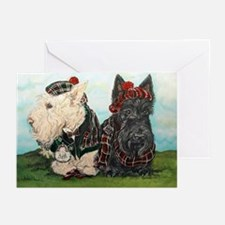 Scottish Highland Terriers Greeting Cards (Pk of 2