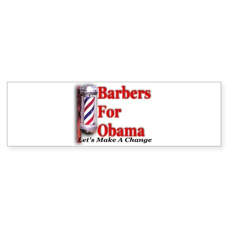 Barbers For Obama Bumper Sticker