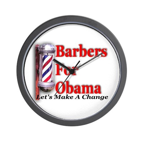 Barbers For Obama Wall Clock