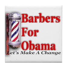 Barbers For Obama Tile Coaster