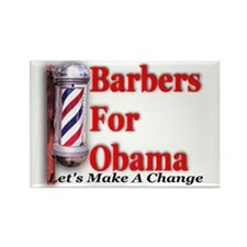Barbers For Obama Rectangle Magnet