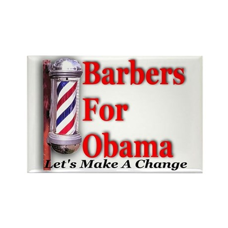 Barbers For Obama Rectangle Magnet (100 pack)