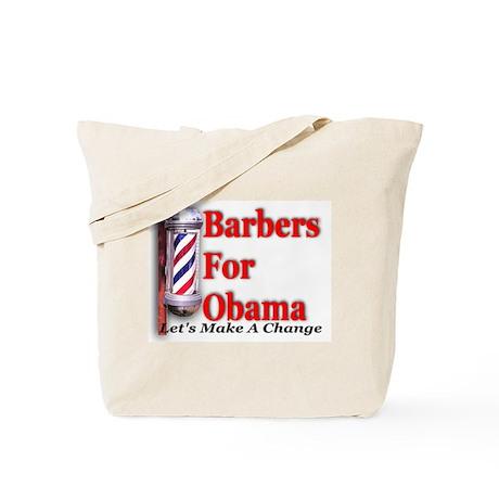 Barbers For Obama Tote Bag
