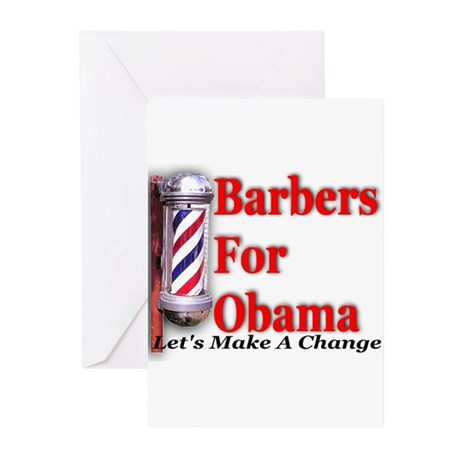 Barbers For Obama Greeting Cards (Pk of 10)