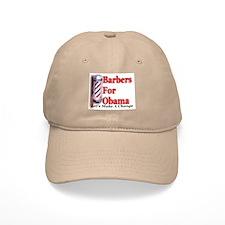 Barbers For Obama Baseball Cap