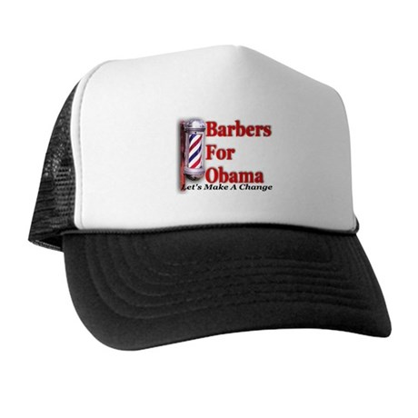 Barbers For Obama Trucker Hat
