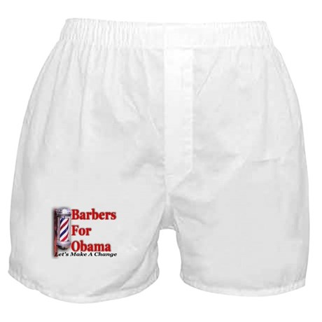 Barbers For Obama Boxer Shorts