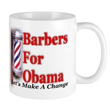 Barbers For Obama Mug