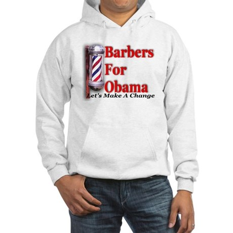 Barbers For Obama Hooded Sweatshirt