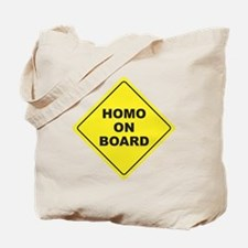 Homo on Board Tote Bag