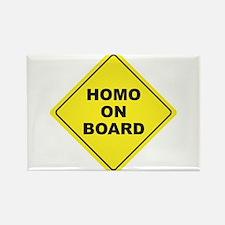 Homo on Board Rectangle Magnet (10 pack)