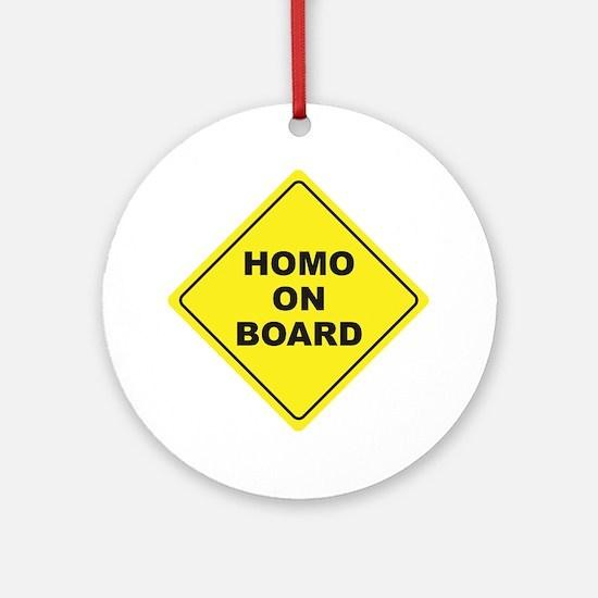 Homo on Board Ornament (Round)