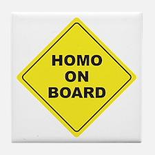 Homo on Board Tile Coaster