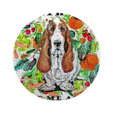 Basset Hound Ecology Ornament (Round)