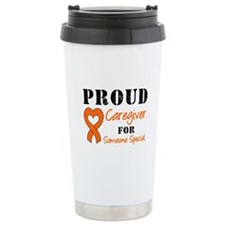 Caregiver Orange Ribbon Ceramic Travel Mug