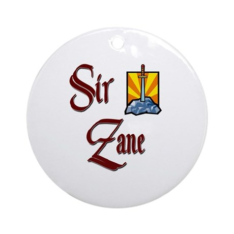 Sir Zane Ornament (Round)