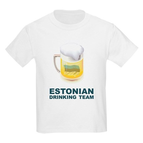 Estonian Drinking Team Kids Light T-Shirt