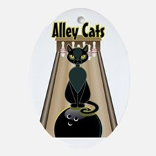 Funny Alley Oval Ornament