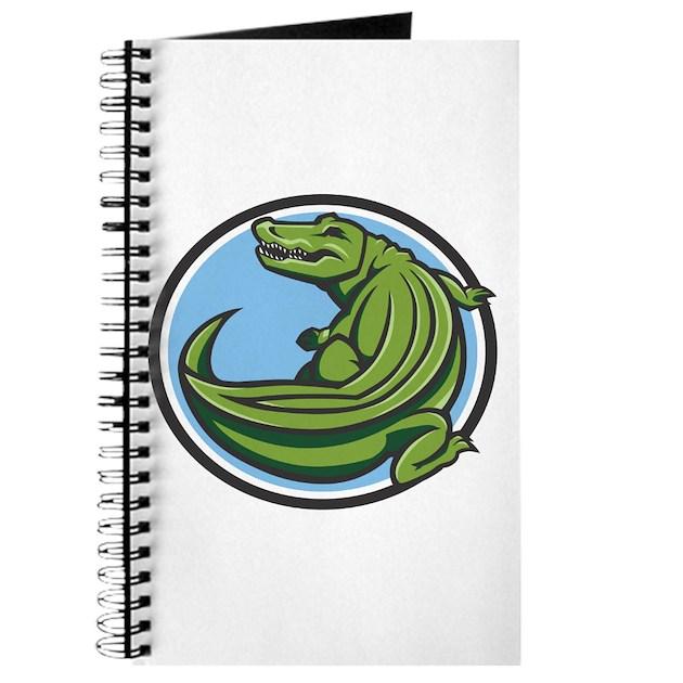 crocodile logo journal by animalflare